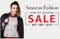 Amazon Fashion Sale- 40-80% Off