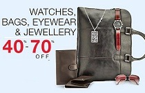 Watches, Bags, Jewellery-40-70% Off